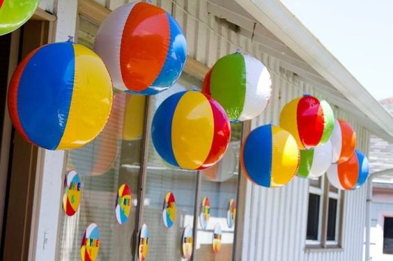 The Uses For Beach Balls In A Surf Themed Party Are