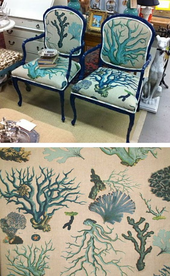 Upholstered Chairs With Coral Fabric Find Coastal Fabrics On Completely Coastal Httpwww