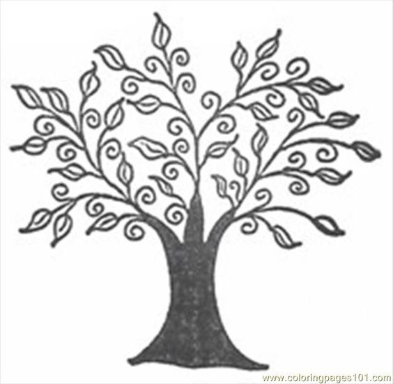 coloring pages coloring and drawings of trees on pinterest