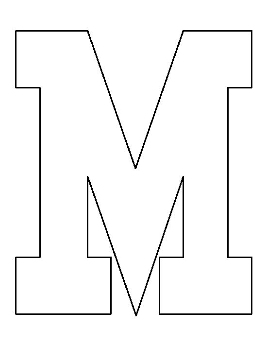 Capital Letter M Template Use Our Special Click To Print