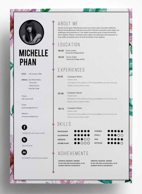 resume resume design and cover letters on pinterest