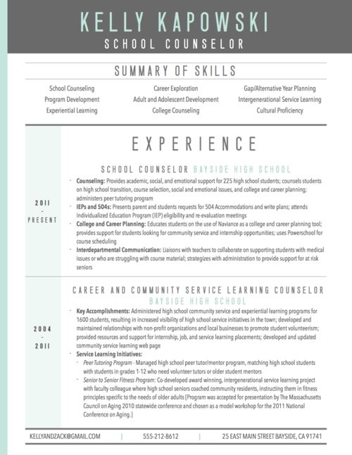 graphic resume resume and school counselor on pinterest