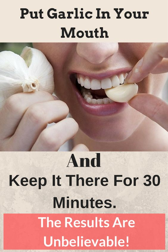Put Garlic In Your Mouth And Keep It There For 30 Minutes. The Results Are Unbelievable!: