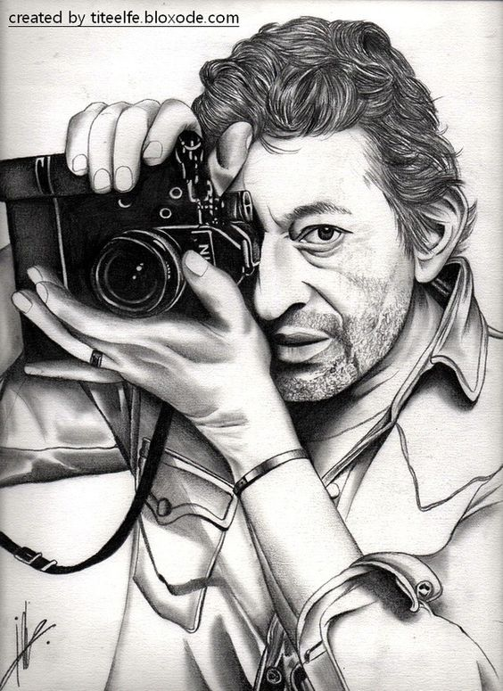 Serge Gainsbourg drawing All my drawings on http