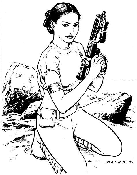 Star Wars Princess Leia Coloring Pages Padme Amidala