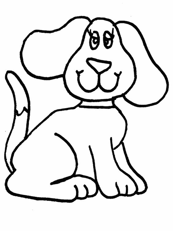 simple animal coloring pages simple dog coloring page applique
