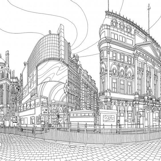 pocadilly circus london steve mcdonald 39 s colouring book