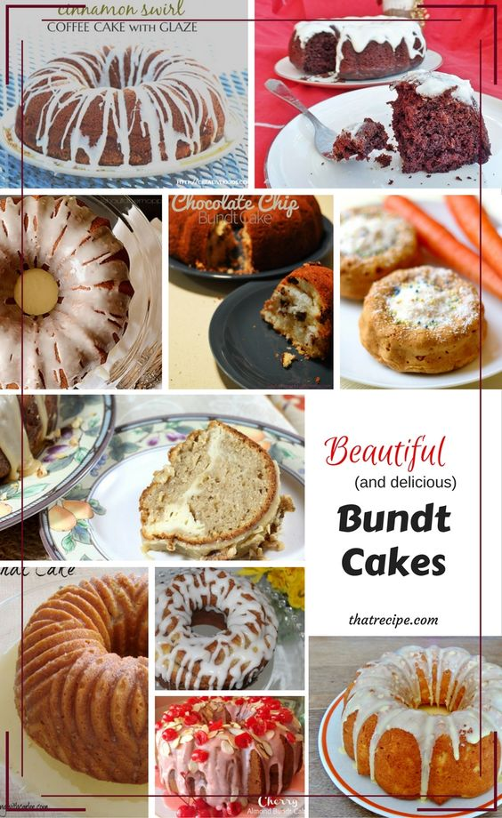 10 delicious Bundt Cake recipe for any occasion: red velvet cake, coffee cake, lemon cake, carrot cake, pumpkin spice cake, and more.: