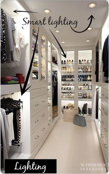 How to create perfect bedroom lighting decorated life - Small closet lighting ideas ...
