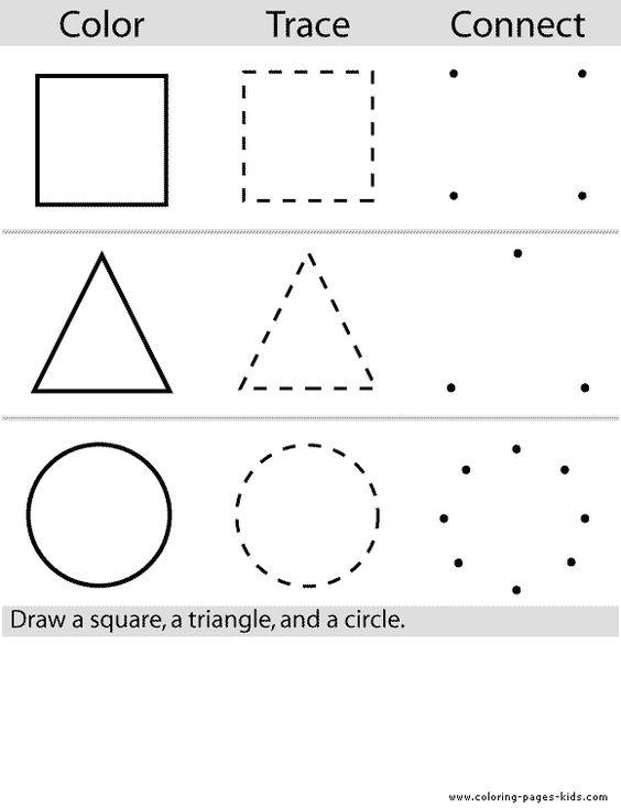 Shape Coloring Pages For Kindergarten. train for kids children ...