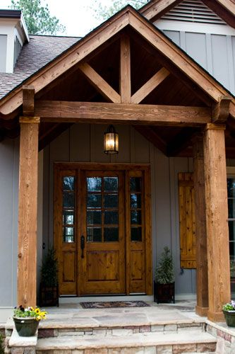 The timber entrance is a must have!:
