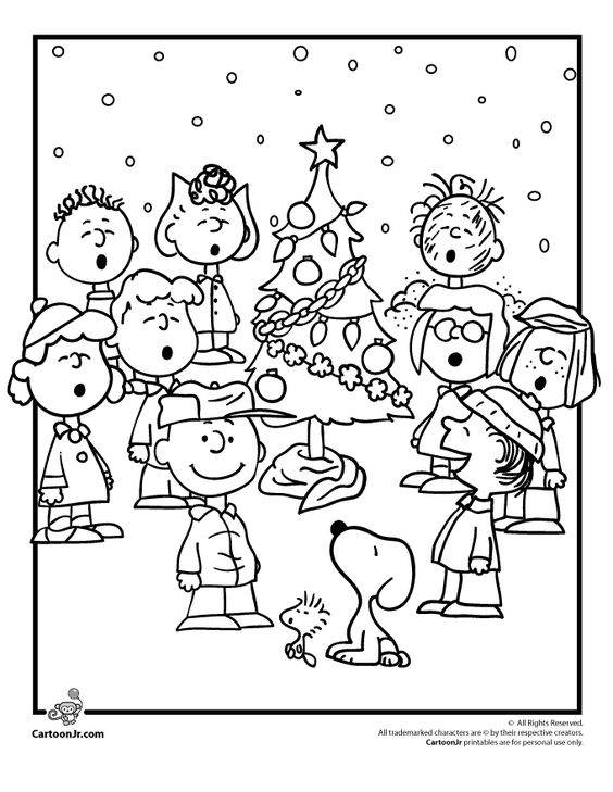 a charlie brown christmas coloring pages charlie brown