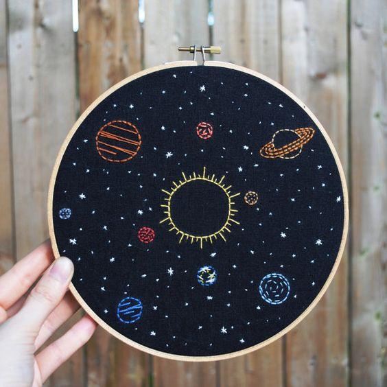 broderie planètes