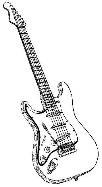 guitar coloring page rockstar camp pinterest music