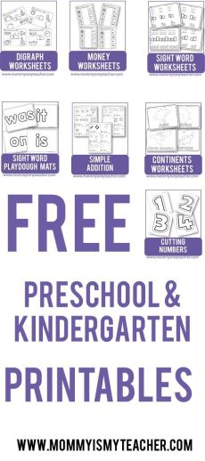 Wow, look at all these fun preschool and kindergarten printables. I can't believe they are all free printables, can't wait to use for my homeschool preschool!: