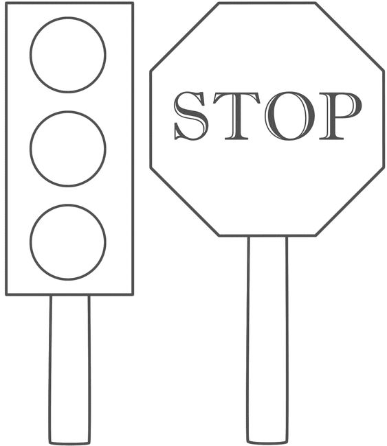 stop signs traffic light and coloring on pinterest