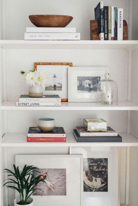 Decorating your shelves is a great way to make you dorm room fancy AF!