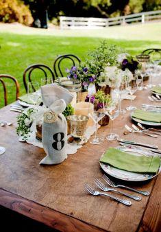 Pretty table...Saddlerock Ranch Wedding by Yvette Roman + Living Cinema + R. Jack Balthazar   Style Me Pretty: