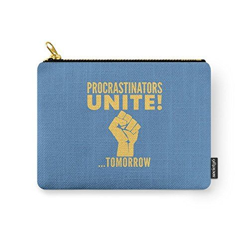 Society6 Procrastinators Unite Tomorrow (Blue) Carry-All…: