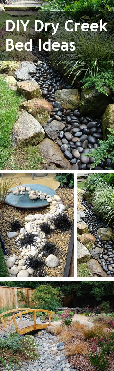 How to DIY a Dry Creek Bed Home, Dry creek bed and Home