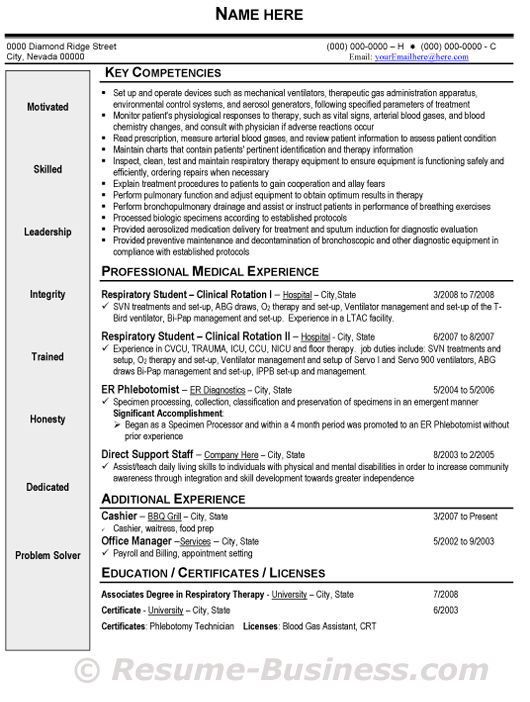 respiratory therapist resume sample gif 530Ã 702 respiratory