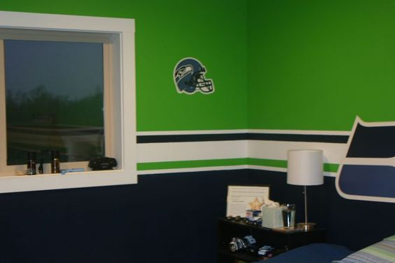 Seahawks Paint Colors Only One Life Wades Room Ideas