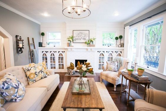 Fixer Upper Season 3 | Renovation by Chip and Joanna Gaines | Living Room | Mantel: