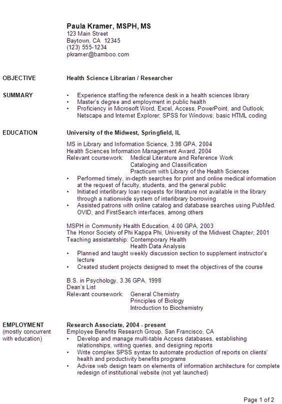 Relevant coursework in resume example Resume Relevant Coursework Example