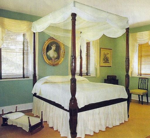 Charleston Rice Bed in the Summer Bedroom at Middleton Place Plantation
