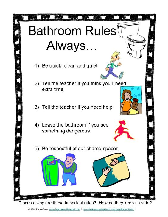 Bathroom Rules For School And Signs Ideas About Procedures On