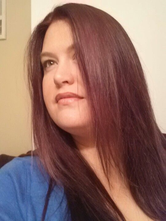 My new hair  color  Medium red  mahogany  brown  My Style