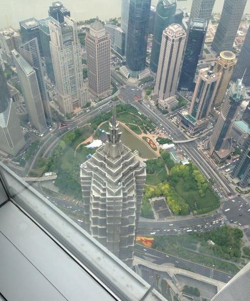 Looking down at Jin Mao Tower
