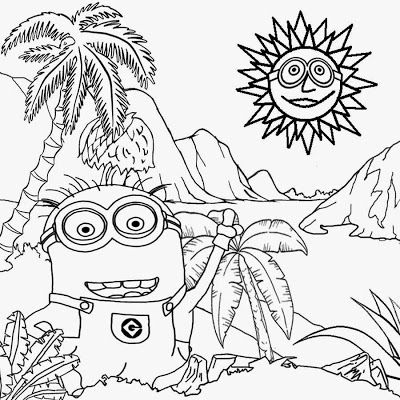 art printable free activity for kids costume minion coloring pages