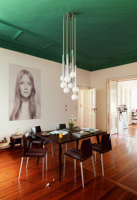 Try This: A Little Color on the Ceiling | Apartment Therapy: