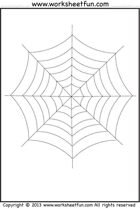 spider webs halloween worksheets and spider on pinterest