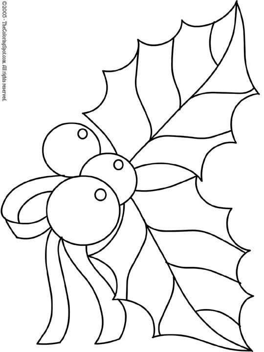 coloring pages christmas holly 2 free printable coloring pages