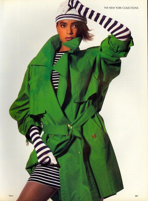 knitGrandeur: 80s Black & White Stripes
