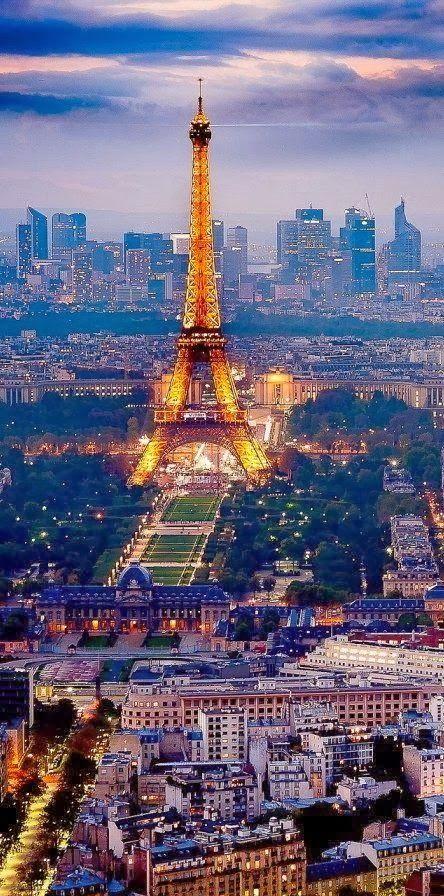 Paris, France @ Night: