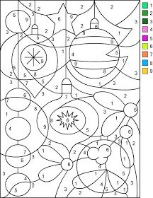 color by numbers christmas colors and free coloring pages on
