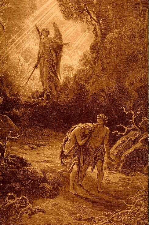 "Gustave Dore's ""Adam and Eve Cast Out"" http://www.fivefoldministryireland.com:"
