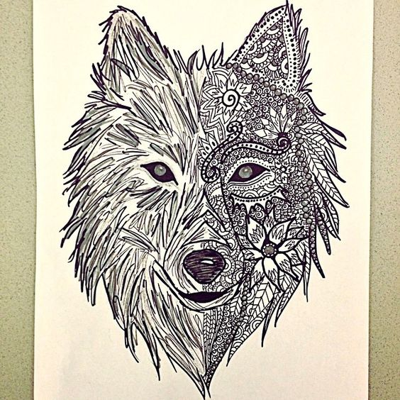 google template. wolf zentangle wolf drawing pesquisa do google, Invoice templates
