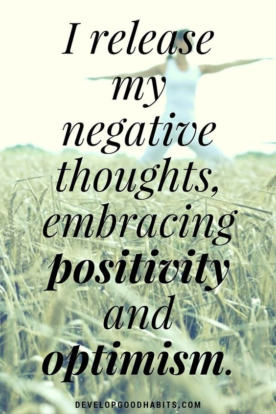 affirmations for self love - I release my negative thoughts, embracing positivity and optimism.: