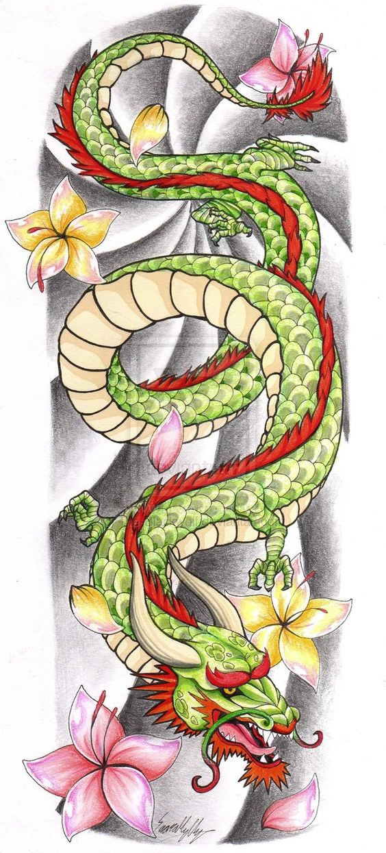 Chinese dragon tattoos, Chinese dragon and Dragon tattoos