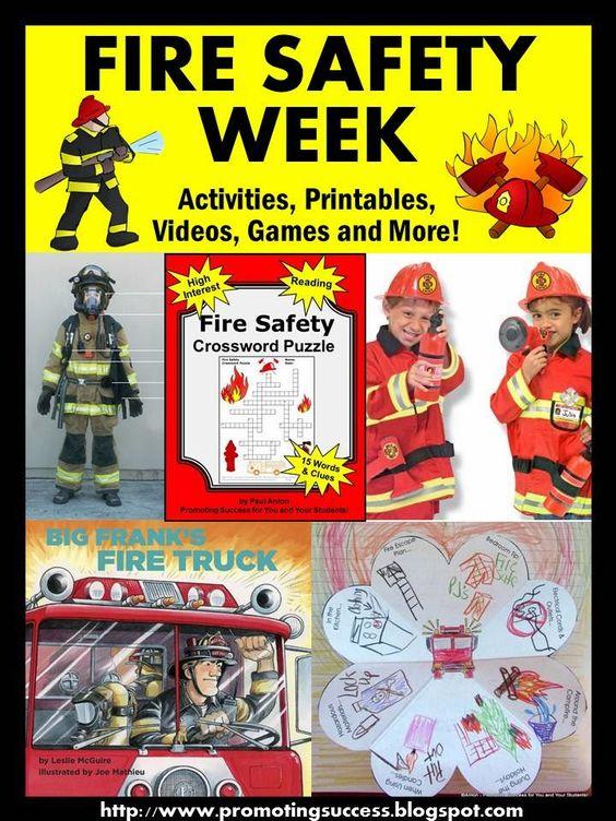 Fire Safety Week Activities for Kids Activities