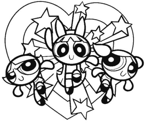 powerpuff girls coloring pages druntk