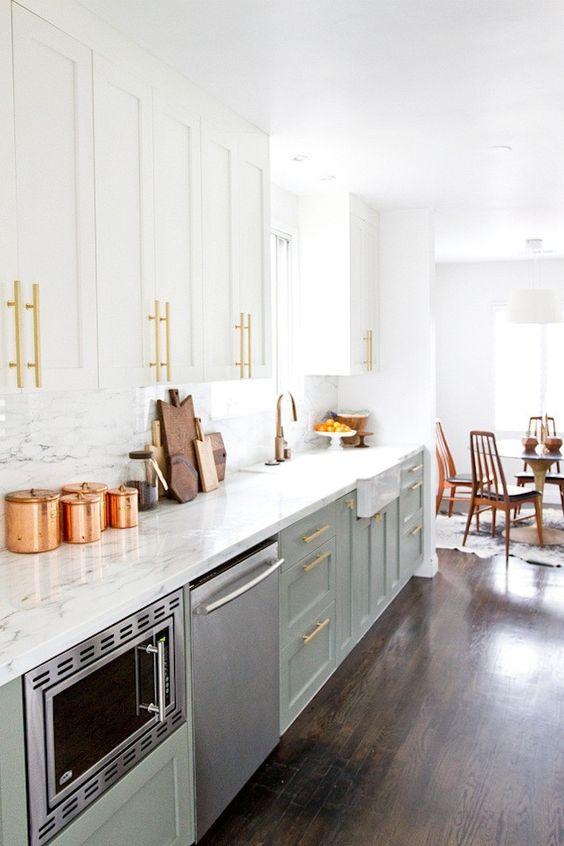 14 Modern + Affordable IKEA Kitchen Makeovers via Brit + Co: