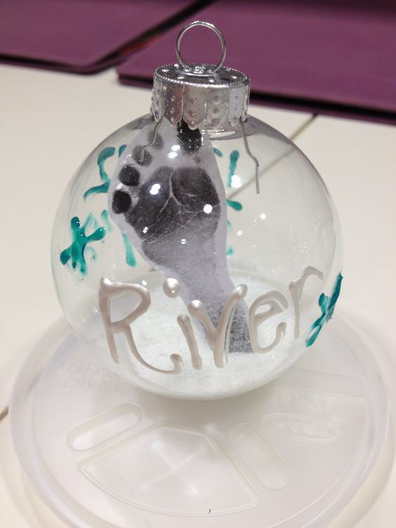 Baby Ornament For The Babies In The NICU Footprint Inside