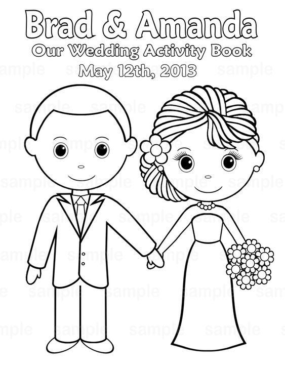 activity books wedding printable and personalized wedding on