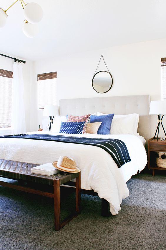 Eclectic vintage bedroom