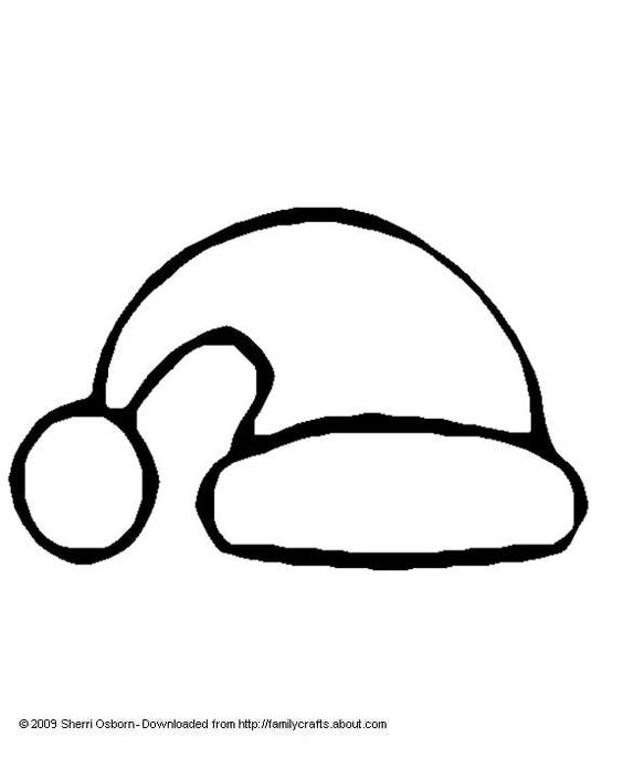 santa hat hats and coloring pages on pinterest